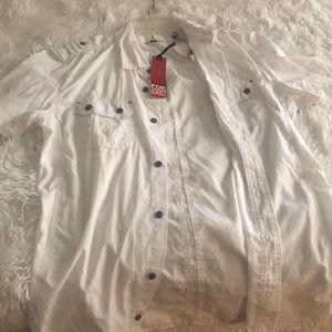 Jeans by Buffalo- Mens White Shirt